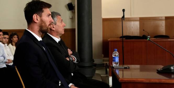 Lionel Messi et son père