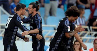 Gareth Bale félicité par Alvaro Morata