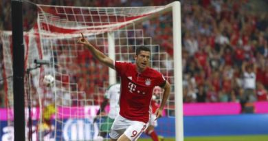 Lewandowski a mis un triplé contre le Werder Brême