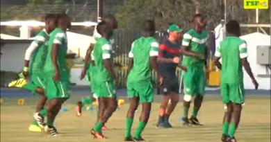 Dernière séance d'entraînement des Lions avant le match face à la Tunisie