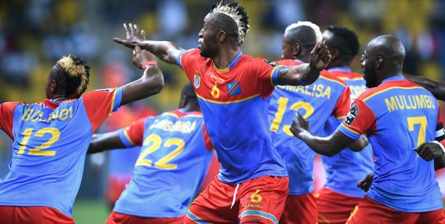La joie démonstrative des joueurs de la RD Congo