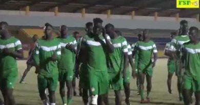 Séance d'entraînement des Lions avant Sénégal – Zimbabwe