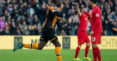 Alfred N'Diaye fête son but sous le maillot de hull city