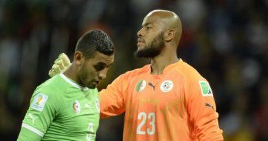 Raïs M'Bolhi (Algérie) s'est engagé un an demi avec Rennes
