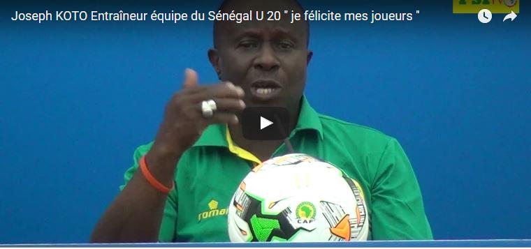 CAN U 20 - Joseph KOTO Entraîneur équipe du Sénégal