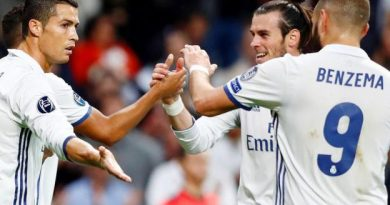 Cristiano Ronaldo, Gareth Bale et Karim Benzema