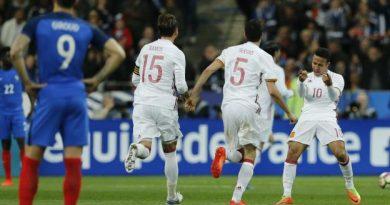 L'Espagne s'impose en france 2-0