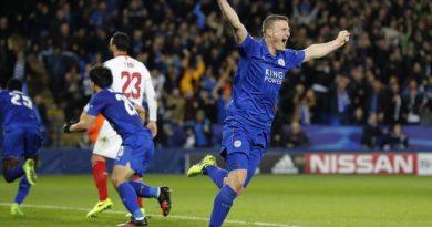 Leicester fait tomber le Séville FC et s'invite en quarts de finale