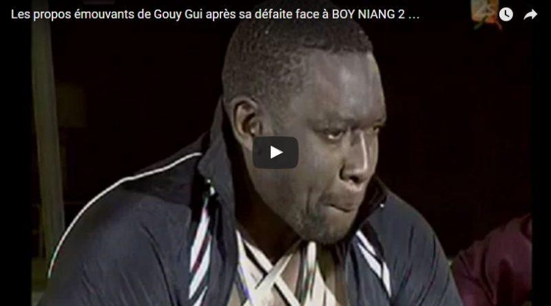 Les propos émouvants de Gouy Gui après sa défaite