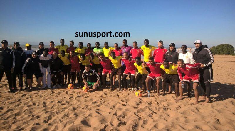 les lions du beach soccer au maroc