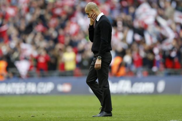 La déception de Pep Guardiola après l'élimination de son équipe en Cup