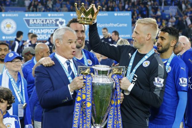 Leicester a été sacré champion d'Angleterre en 2016
