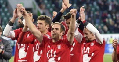 Les joueurs du Bayern Munich fêtant leur sacre