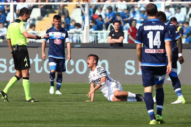 Paulo Dybala s'est fait mal à la cheville