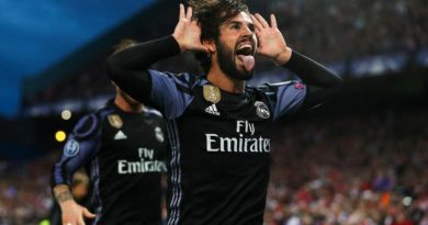 Real Madrid's Isco celebrates scoring his side's first goal during the Semi Final Champions League match between Atletico and Real Madrid, at Vicente Calderon, Madrid, Spain on 10th May 2017 Photo : Adam Davy / PA Images / Icon Sport