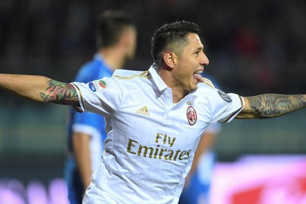 L'attaquant de l'AC Milan, Gianluca Lapadula a marqué un triplé