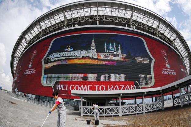 Le stade de Kazan est un des quatre lieux retenus par la Russie pour accueillir la Coupe des Confédérations