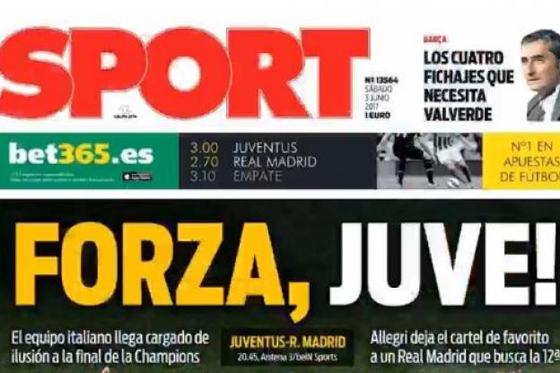 la presse de Barcelone encourage la Juventus