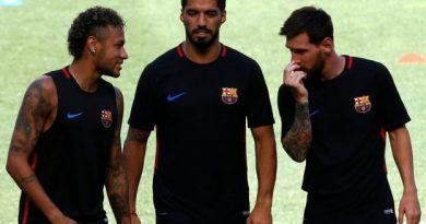 Neymar, Luis Suarez et Lionel Messi