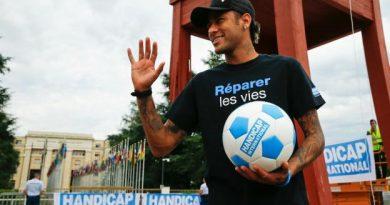Neymar est désormais ambassadeur de Handicap International