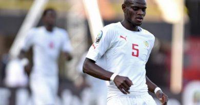 Racine Coly sous le maillot des U20 sénégalais en 2015