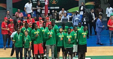 Lions médaillés de bronze de l'Afrobasket2017