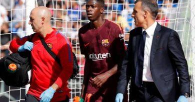 Ousmane Dembélé s'est blessé contre Getafe