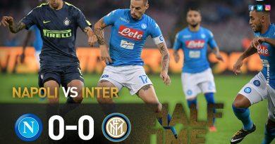 Naples et l'Inter Milan se neutralisent