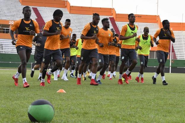 Le groupe ivoirien à l'entraînement