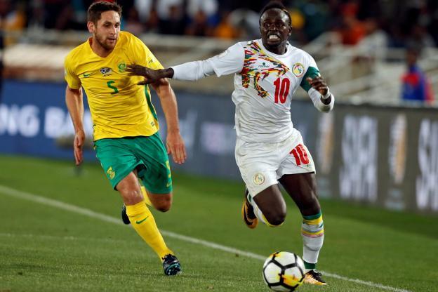 Mané a joué avec le Sénégal contre l'Afrique du Sud