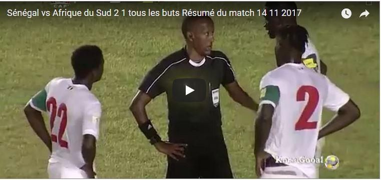 Sénégal 2-1 Afrique du Sud , Résumé du match