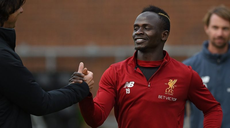 sadio de retour à lentrainement