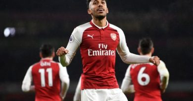 during the Premier League match between Arsenal and Everton at Emirates Stadium on February 3, 2018 in London, England.