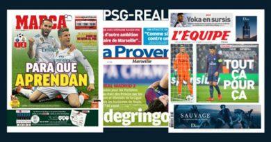 La revue de presse des médias espagnols et européens après PSG-Real Madrid