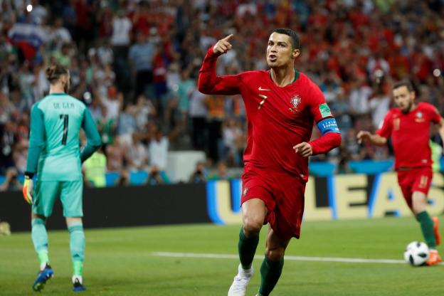 Cristiano Ronaldo a ouvert le score pour le Portugal