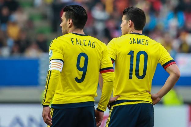 Falcao et James étaient titulaires côté colombien