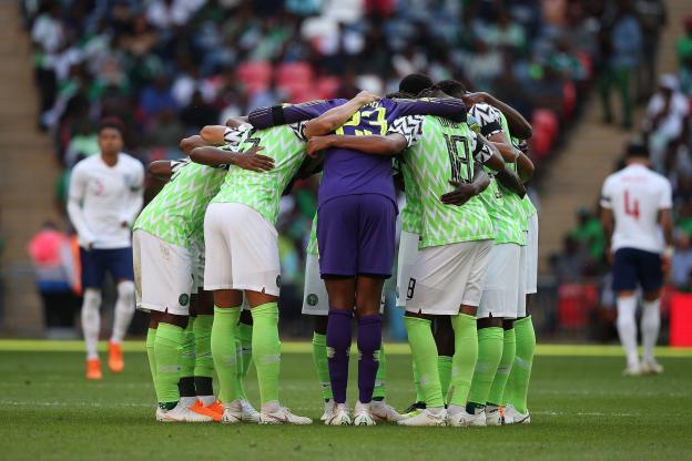 Le Nigeria ici à Wembley en préparation