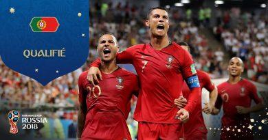 Le Portugal se qualifie également pour les 8e de finale