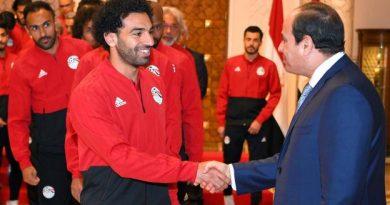 Mohamed Salah salue le président égyptien