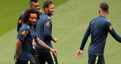 Neymar à l'entraînement, samedi