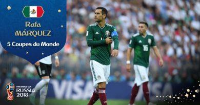 Rafael Márquez qui dispute sa 5e Coupe du Monde