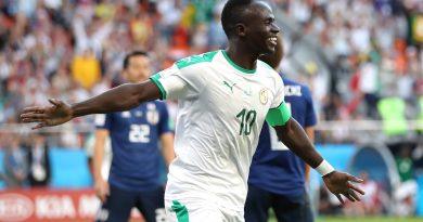 YEKATERINBURG, RUSSIA - JUNE 24:  Sadio Mane of Senegal celebrates after scoring his team's first goal during the 2018 FIFA World Cup Russia group H match between Japan and Senegal at Ekaterinburg Arena on June 24, 2018 in Yekaterinburg, Russia.  (Photo by Ryan Pierse/Getty Images )