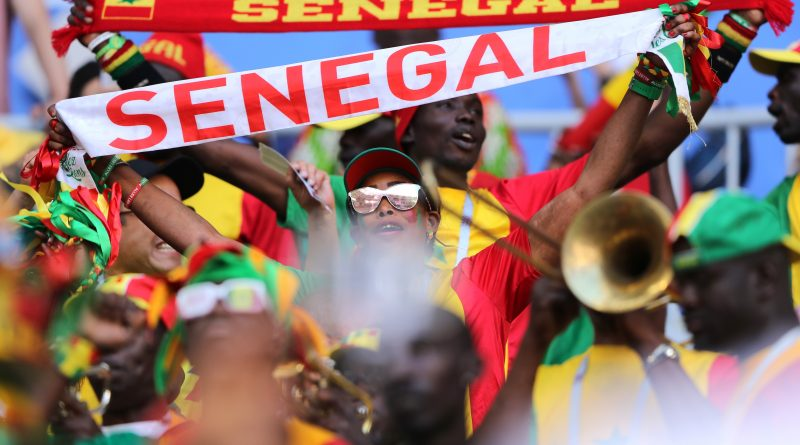 SAMARA, RUSSIA - JUNE 28:  Senegal fans enjoy the pre match atmosphere prior to the 2018 FIFA World Cup Russia group H match between Senegal and Colombia at Samara Arena on June 28, 2018 in Samara, Russia.  (Photo by Simon Hofmann - FIFA/FIFA via Getty Images)
