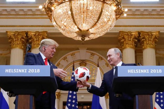 Donald Trump et Vladimir Poutine ont échangé un ballon