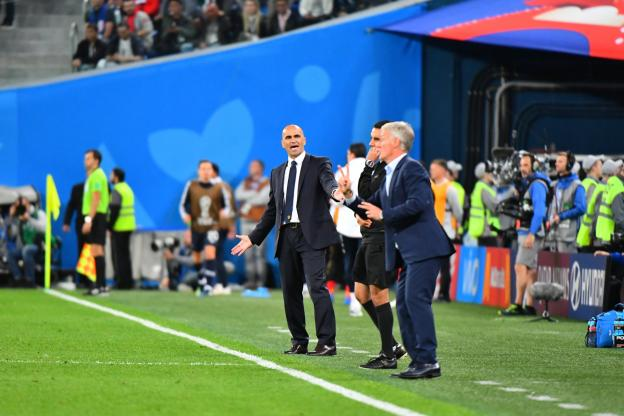 Roberto Martinez pendant la demi-finale contre les Bleus