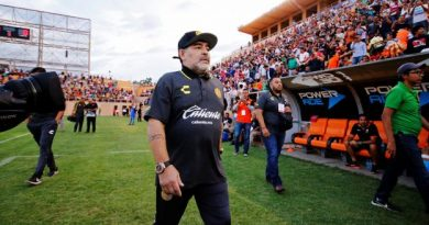 Diego Maradona samedi à l'Estadio Tecnologico d'Oaxaca