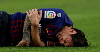 Messi est blessé au coude droit
