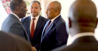 Ahmad Ahmad a rencontré le président de la République ivoirienne