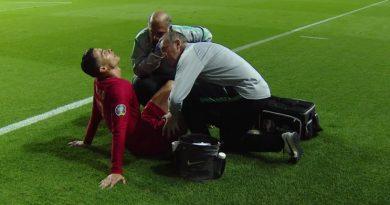 Blessé, Cristiano Ronaldo a laissé sa place lors du match du Portugal