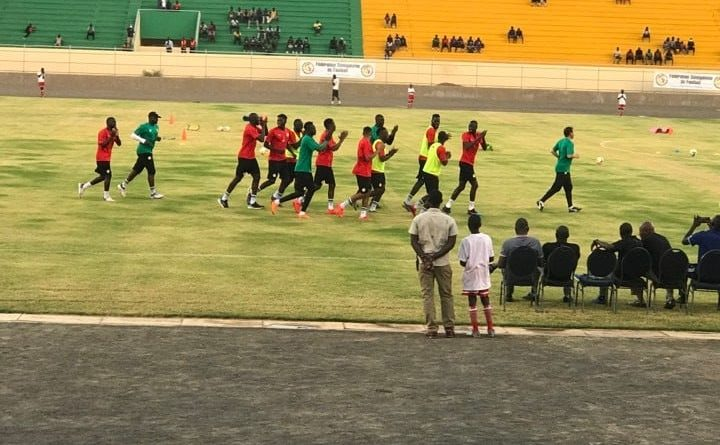 Sénégal vs Madagascar lions entrainement